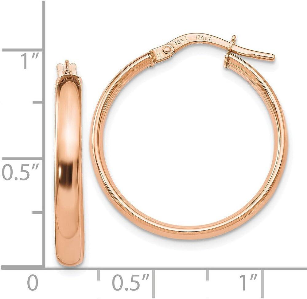 Leslies 10k Rose Gold Polished Hoop Earrings