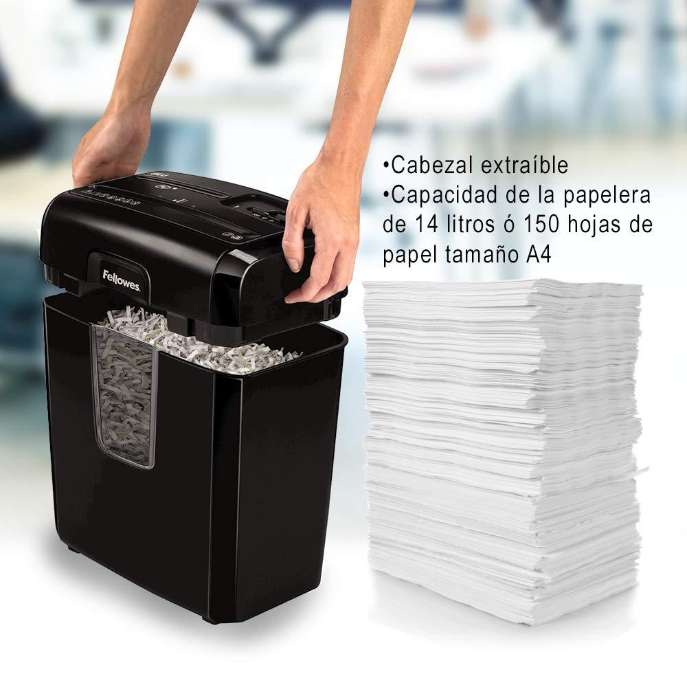 Fellowes 6C - Destructora trituradora de en papel, corte en de partículas, 6 hojas, negro 24ae9c