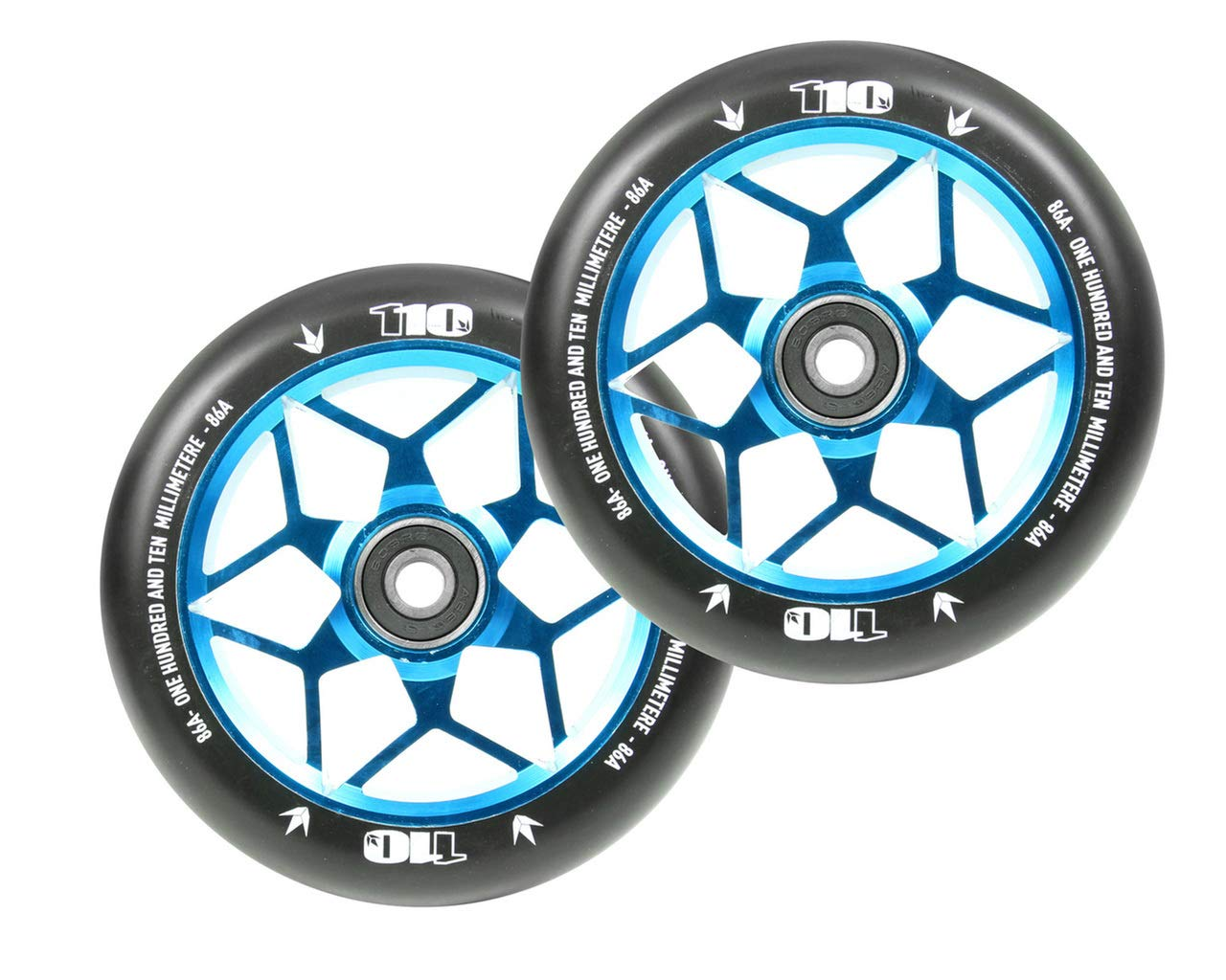 Black BLUNT Scooters 110mm DIAMOND WHEELS