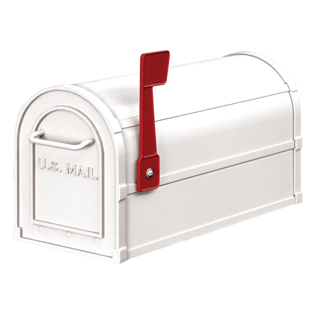 Salsbury Industries 4850WHT Heavy Duty Rural Mailbox