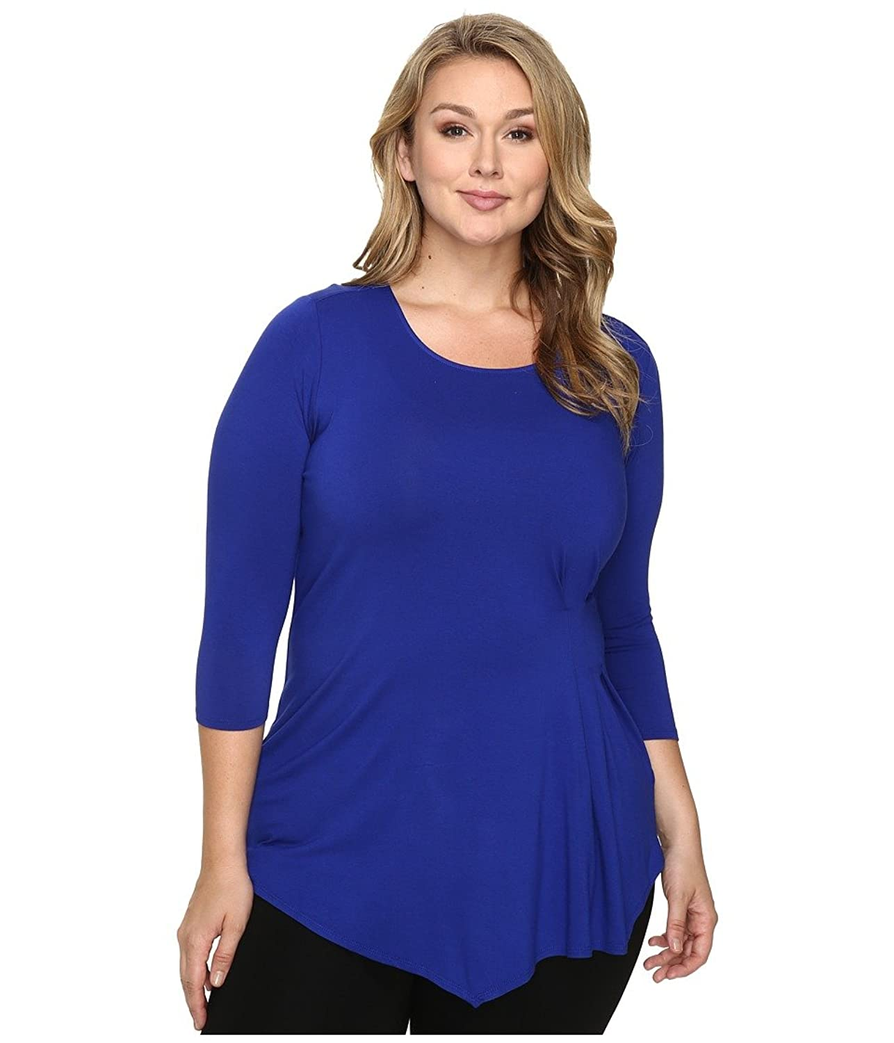 Vince Camuto Plus Women's Plus Size 3/4 Sleeve Side Ruched Top