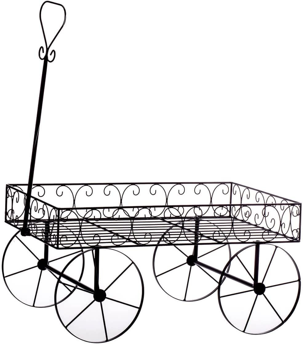 Fox Valley Traders Metal Scroll Wagon Planter