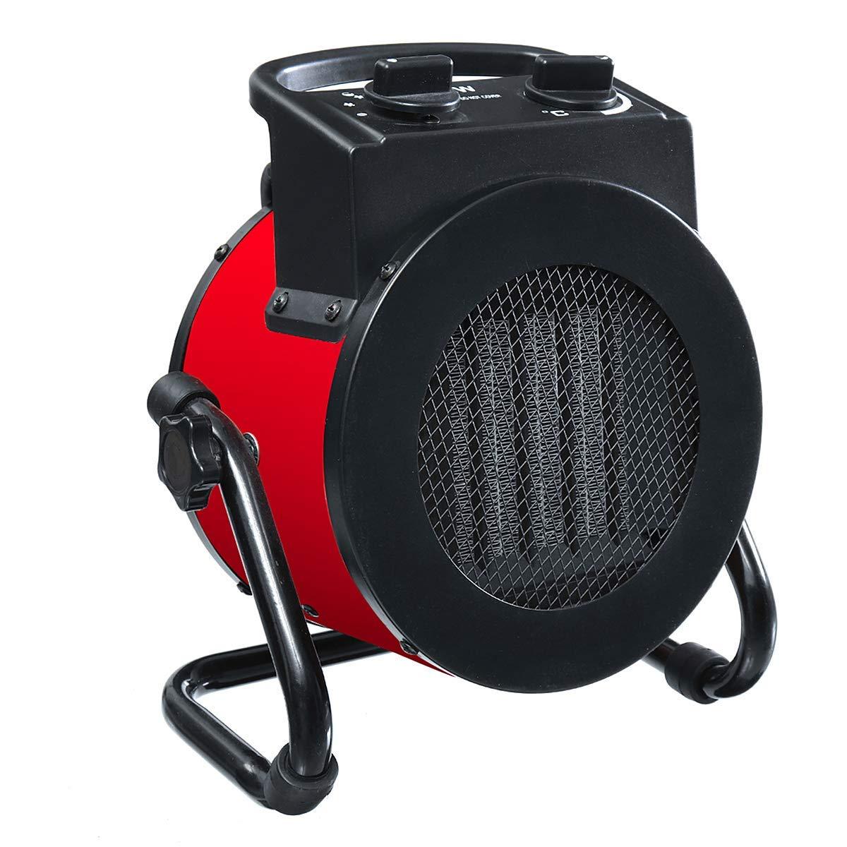 Acquisto YSCCSY 220 V 9A 50 Hz 2000 W Elettrico Riscaldamento Domestico Ventola Scaldabagno Portatile PTC Ventilatore Ceramico Riscaldatore di Spazio Forzato Ventilatore di Aria Calda Elettrico Prezzi offerte
