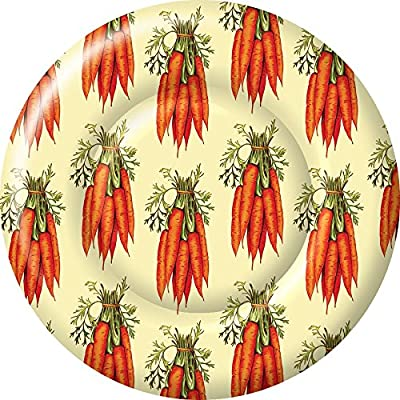 Boston International 8 Count Round Paper Dinner Plates, Carrots