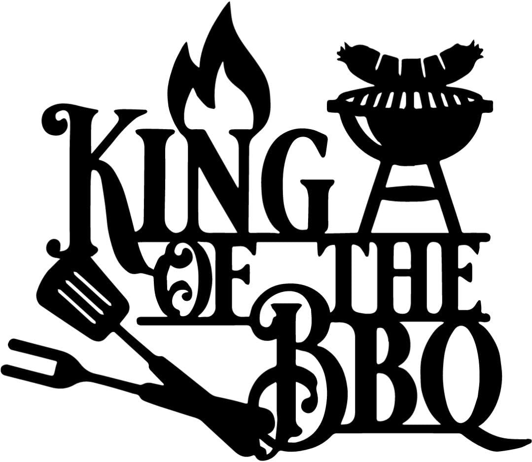 King of the BBQ Metal Wall Plaque   Raw Metal Sign Decoration   10