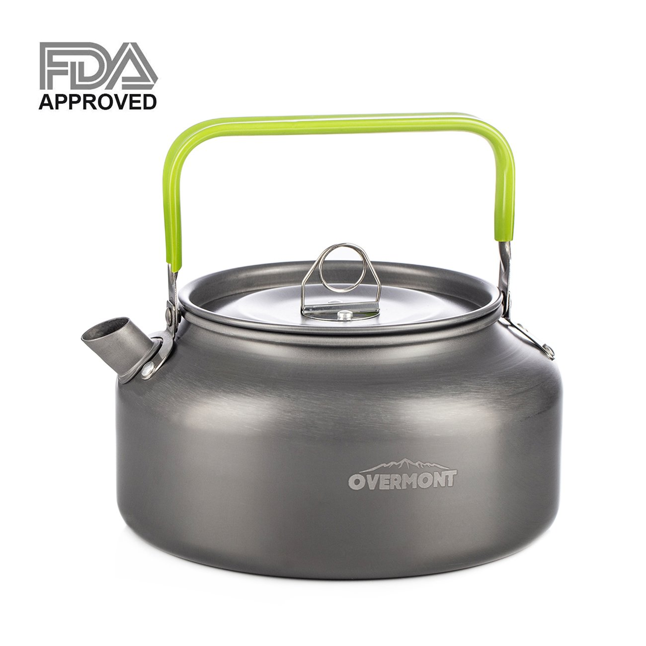 Overmont All-Round Dutch Oven Camping Kettle【Dual Function : Lid Griddle】【with Lid Lifter】【Pre Seasoned】 Cast Iron Dutch Oven Pot Handle for Camping Cooking BBQ Baking (1.2L/42fl oz)