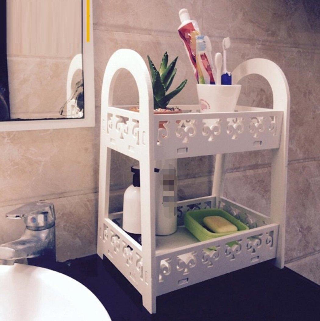 GL&G Bathroom Furniture Basket storage rack finishing box racks With drawers Plastic wood board pvc waterproof Storage Box