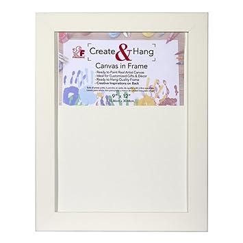 Fredrix Create Hang Canvas In Frame White Frame Cut Edge Canvas