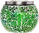GreenLighting Mosaic Solar Light - Decorative LED Outdoor Garden Table Ball Light by (Green & Yellow)