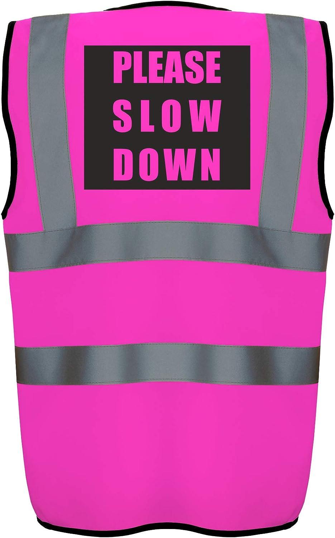 6 x Pink Ladies Hi Vis Viz Reflective Safety Vests Waistcoats Corporate Fun