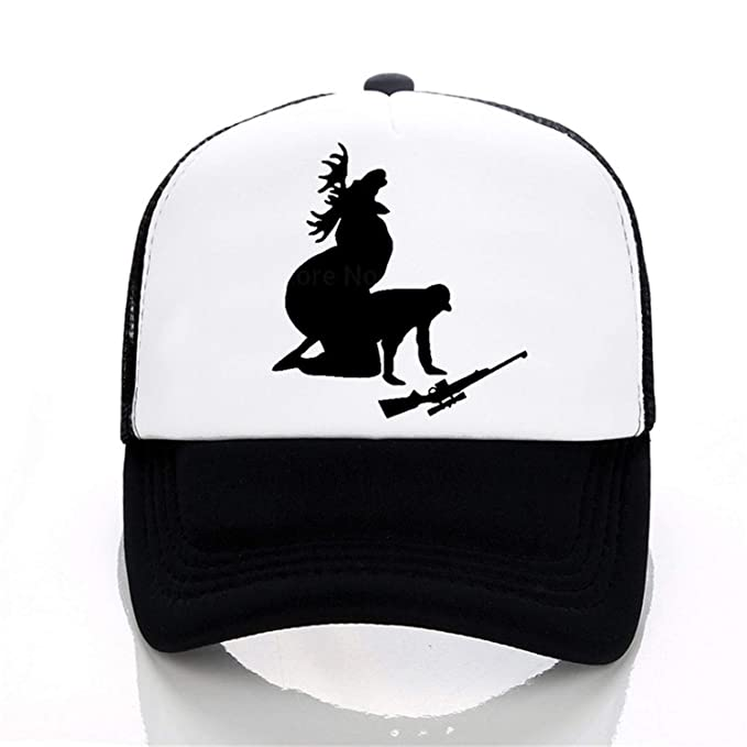 eb040797894d7 Wension Moose Hunting Baseball Cap Funny Print Letters hat Summer ...