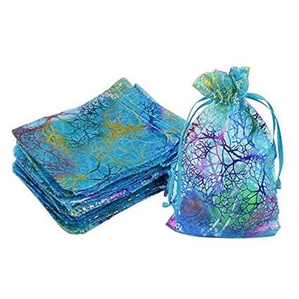 Winomo - Bolsas de organza con lazos, bolsa de joyería ...
