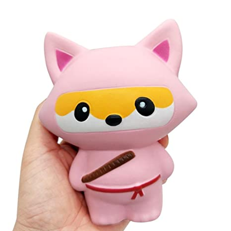 TMEOG 1Pcs Kawaii Ninja Panda Ninja Fox Dulce perfumado Slow Rising Squishy para Kid Toy, Lovely Toy, Stress Relief Toy, Decoraciones Juguete Regalo ...