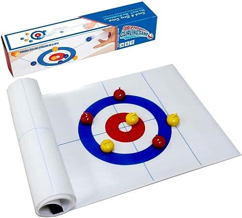 AGAWA Interactivo Juguete para Niños Plegable Mesa Curling Bolos Juego Familia De Mesa Juego para Familia Escuela Viaje: Amazon.es: Hogar