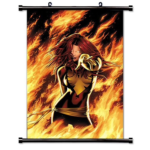 X-Men Sexy Dark Phoenix Comic Fabric Wall Scroll Poster (32x48) Inches (Justice League Fabric Poster)