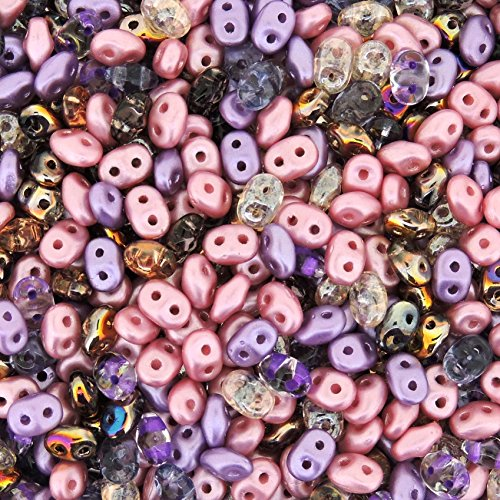 Czech Superduo Two-hole Crystal Seed Beads Super Duo 5x2.5mm Little Princess