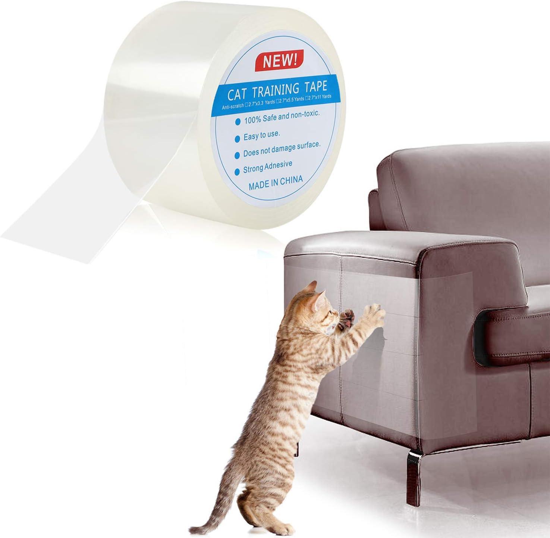 Pidsen Protector de Muebles Gatos, 7X1000 CM Nano Cinta Adhesiva Anti Arañazos para Gatos,Transparente Autoadhesivas de Gato Protector para Gatos y Perro,Protector de sofá para Detener
