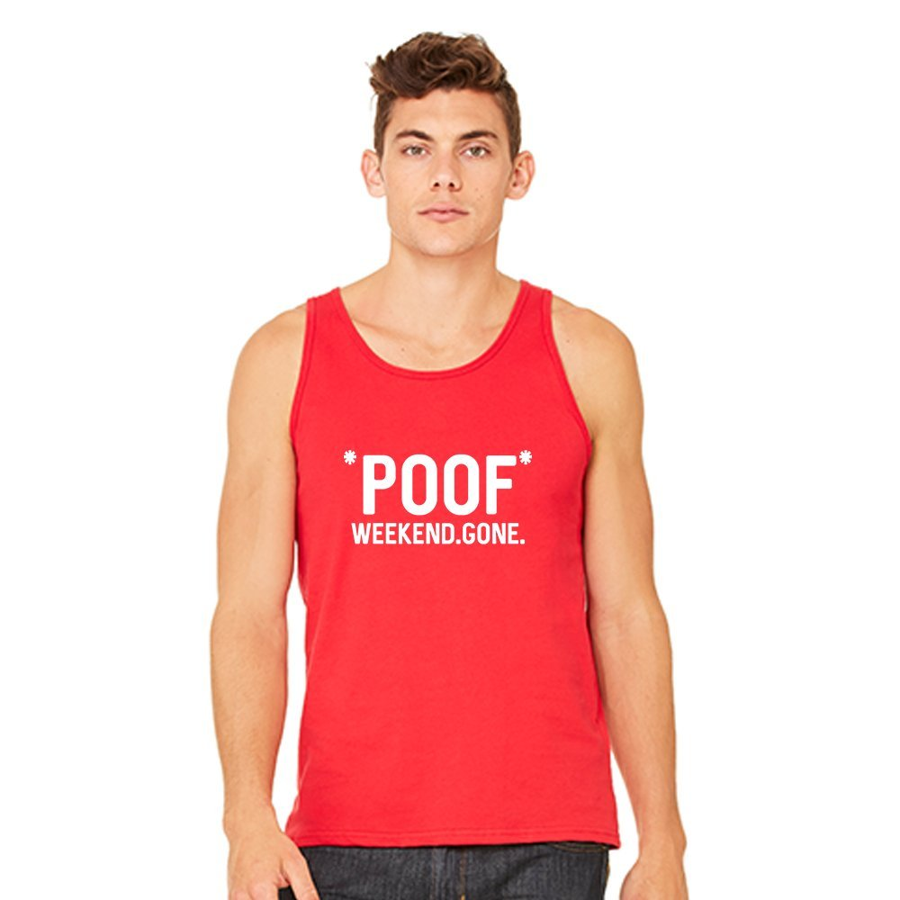 Mad Over Shirts Poof Weekend Gone Unisex Premium Tank top