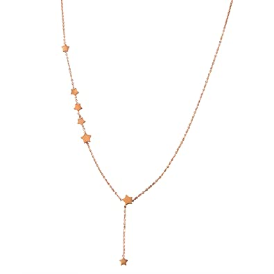 JewelryWe joyas mujer Collar, acero inoxidable pentagrama ...