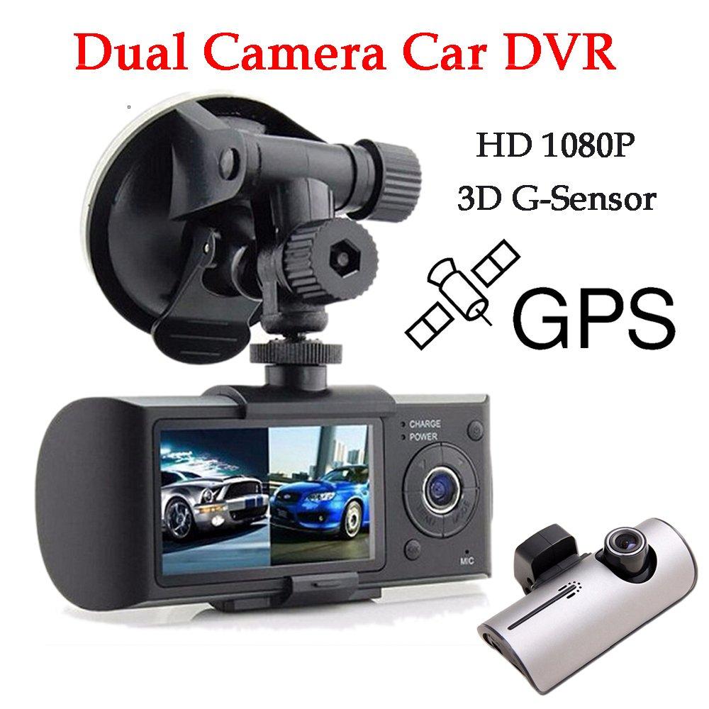 BoomBoost 2.7\' TFT LCD Double Camé ra DVR de Voiture R300 X 3000 Enregistreur Vidé o GPS 3D G-Sensor Cam Voiture DVR