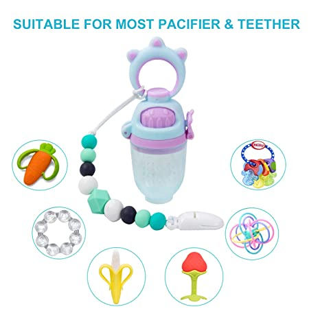 Amazon.com: Clip de silicona para chupete para bebés niños y ...
