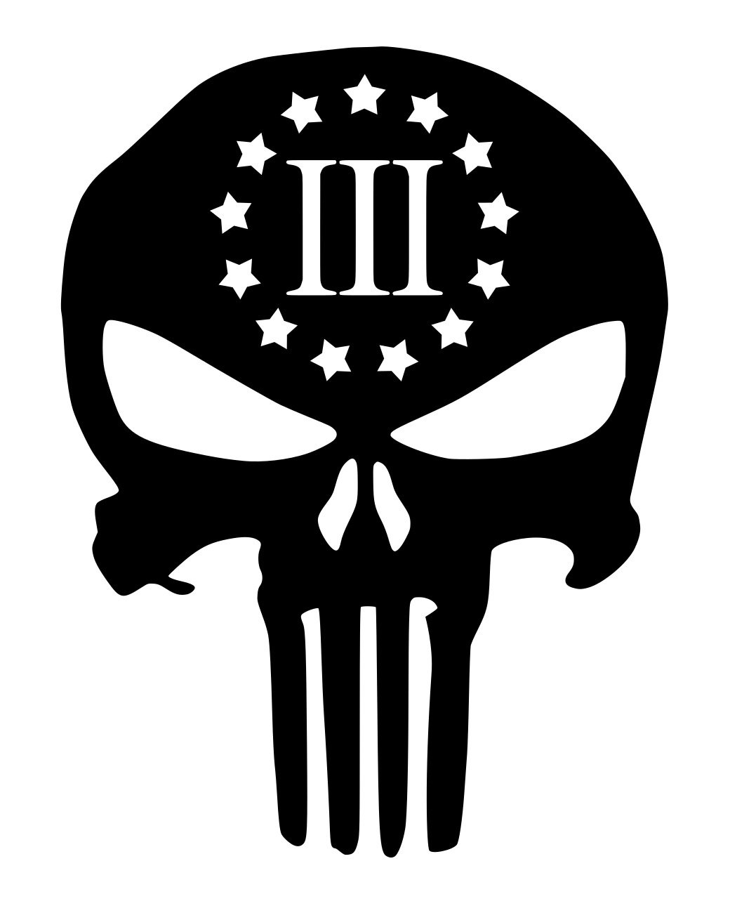 Amazon com ur impressions red 3 percenter punisher skull decal vinyl sticker graphics cars trucks suv vans walls windows laptopred5 5 x 4 3