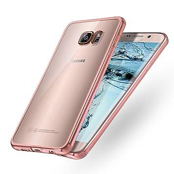 Samione Funda Galaxy S7, Galaxy S7 TPU Funda [Enchapado Tecnología] [Cristal Claro] Funda Carcasa Case Cover para Samsung Galaxy S7, Rosa