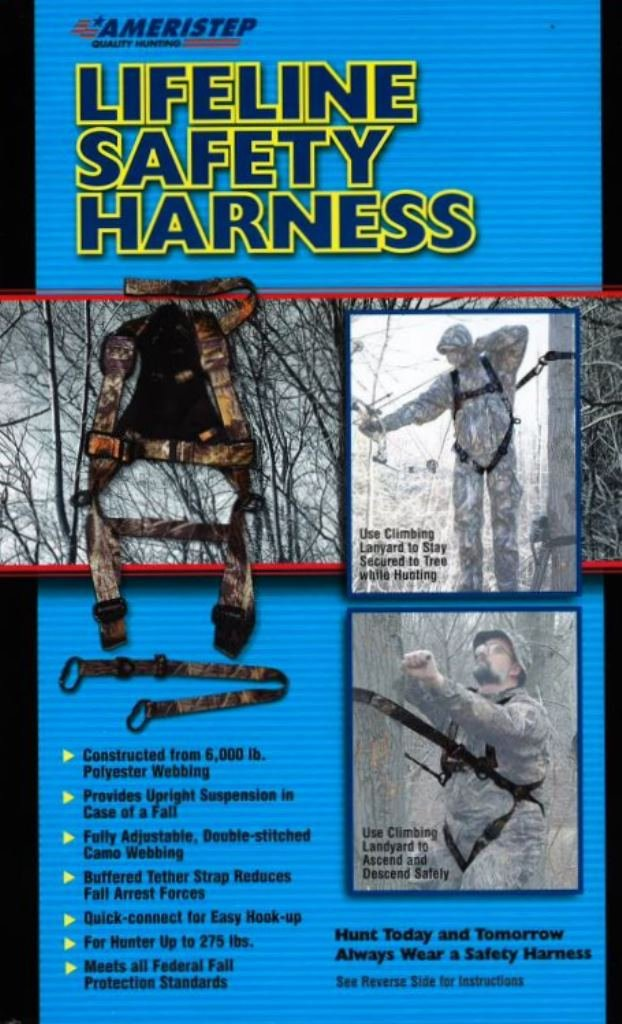 Getting ready for deer hunting. Ameristep 15 ft. 2 man tree stand.