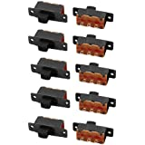 uxcell 10Pcs 2 Position 3P SPDT Micro Miniature PCB Slide Switch Latching Toggle Switch