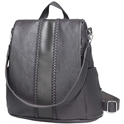 4256343f94c Women Backpack Purse, VASCHY Fashion Faux Leather Anti-theft Backpack for Ladies  School Bag with Vintage Weave  Amazon.co.uk  Shoes   Bags