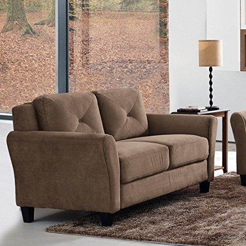 Pearington Merango Microfiber Living Room Loveseat Sofa Chair, (Microfiber Living Room Sofa)