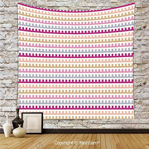 Tapestry Wall Hanging Maze Like Labyrinth Inspired Pattern Horizontal Soft Colored Old Fashioned Retro Tapestries Dorm Living Room Bedroom(W59xL90)