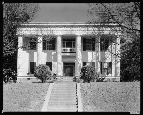 Photo: Hugenin-Proudfit-Birdsey House, porches, Macon, Georgia, GA, Architecture, South, 1939 . - Shopping Georgia Macon
