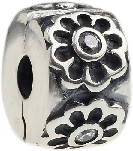 925 Silver Flower Bracelet Beads 2 Sterling Silver Large Hole Flower Spacer Beads