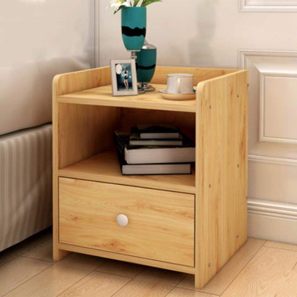 Amazon.com: ZXMDMZ Wooden Bedside Tables Side Tables Storage ...