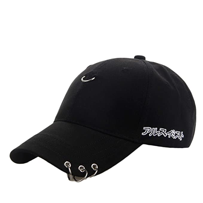 b451a1c6a 2019 Concise Unisex Kpop G-Dragon Baseball Cap Safety Pin Curved Hat ...