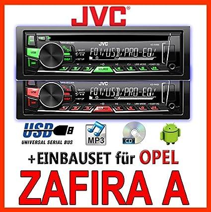 Opel Zafira A Jvc Kd R469e Cd Mp3 Usb Autoradio Einbauset Elektronik