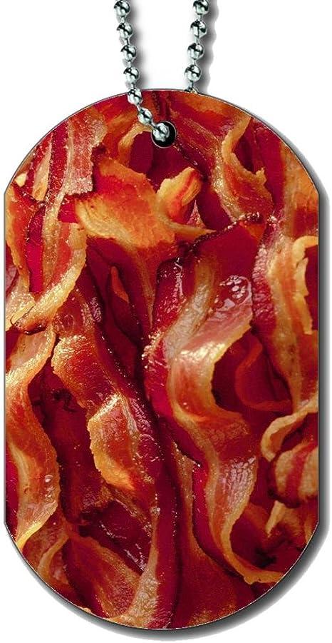 Amazon com : Bacon Dog Tag Necklace : Pet Supplies
