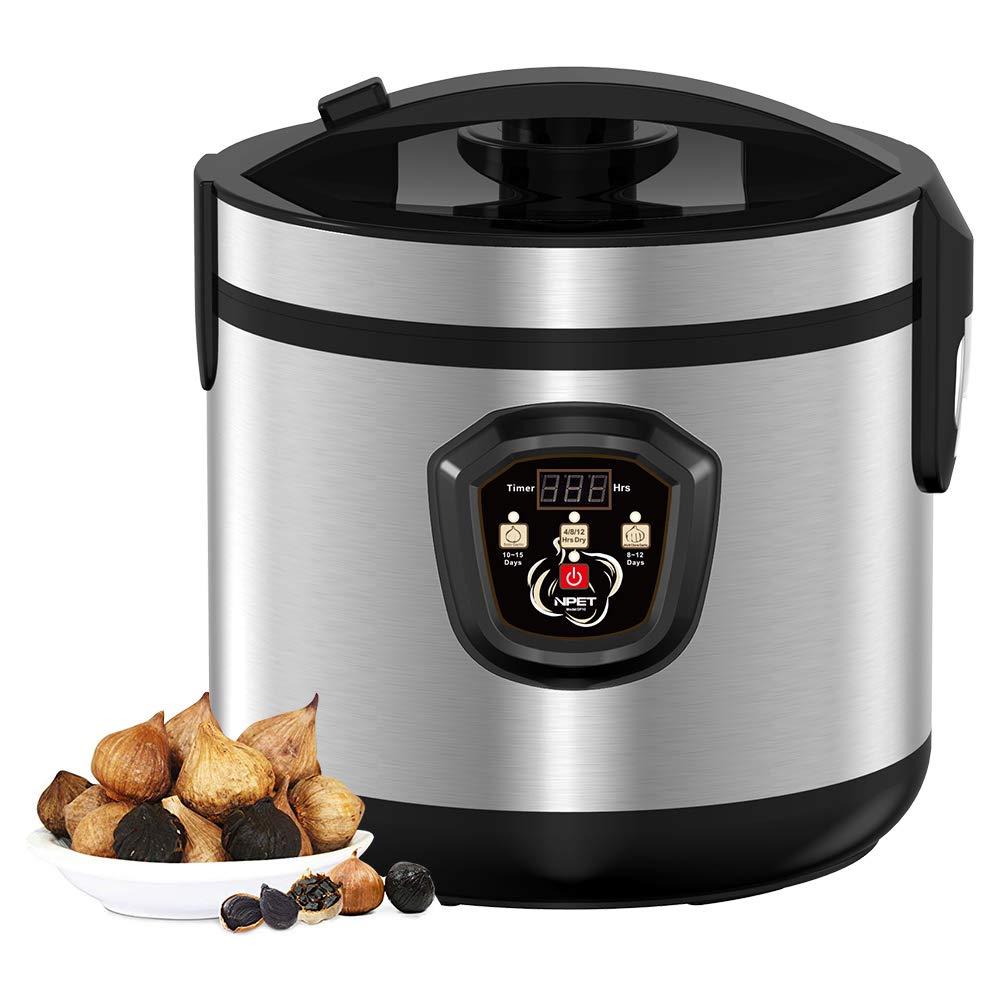 NPET GF10 Black Garlic Automatic Fermenter, Black Garlic Roaster, Garlic Maker Box, Smart Fermentation Machine, Health Food Maker, Home/Kitchen Utensil, 5L