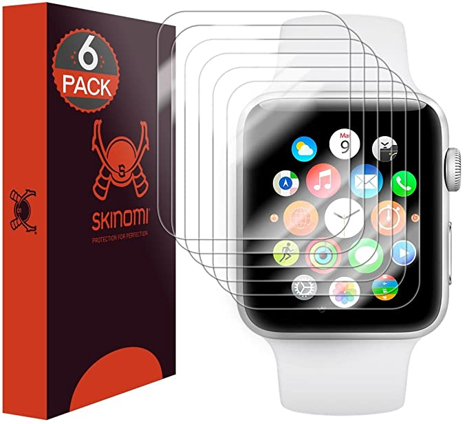 new style 45e07 7117f Apple Watch Series 2 Screen Protector(42mm) (6-Pack), Skinomi TechSkin Full  Coverage Screen Protector for Apple Watch Series 2 Clear HD Anti-Bubble ...