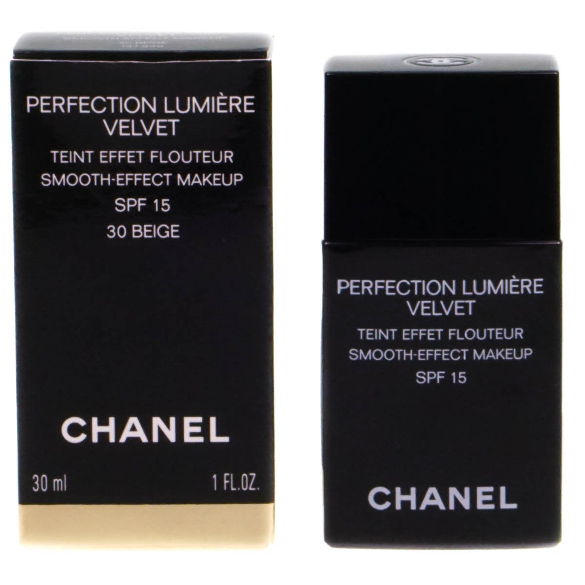 Amazon.com : Chanel - Perfection Lumiere Velvet Smooth Effect Makeup SPF15 - # 30 Beige - 30ml/1oz : Beauty