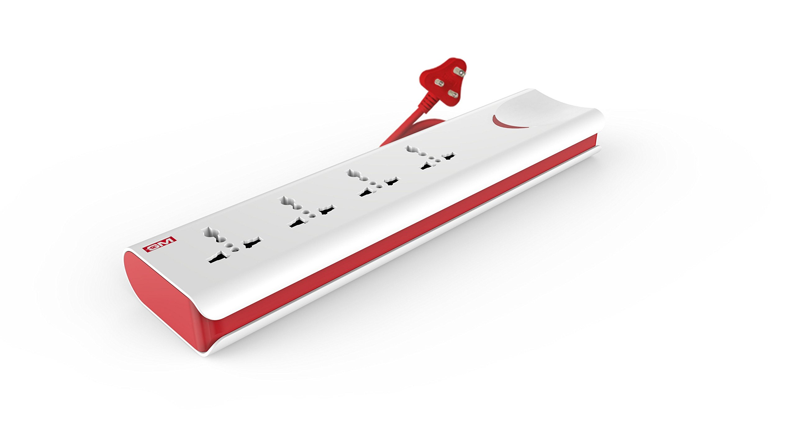 GM 3060 E-Book 4 + 1 Power Strip with Master Switch, Indicator, Safety Shutter & 4 international sockets product image