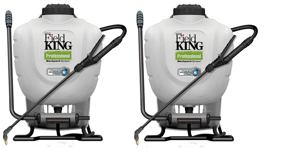 Field King Professional 190328 No Leak Pump Backpack Sprayer for Killing Weeds in Lawns and Gardens (2-PACK)