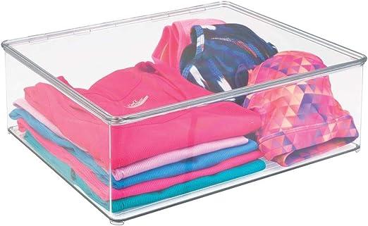 mDesign Cajas para guardar ropa apilables y con tapa – Prácticas ...