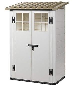 MP pm191 Box para caseta casita Contenedor de Herramientas Tuscany EVO 100/2 Resina 122, 5 X 82, 5 X 201 : Amazon.es: Jardín