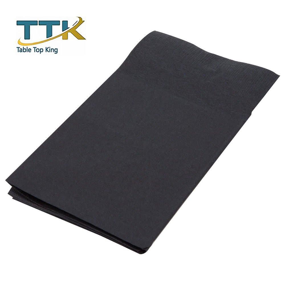 ReadyNap 15'' x 17'' Black Pocket Fold Dinner Napkin - 800/Case by TableTop king