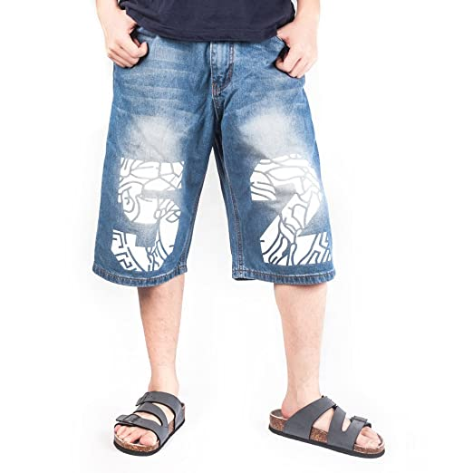 Crazy Mens Fashion Half Pant Denim Shorts Summer Baggy Jeans At