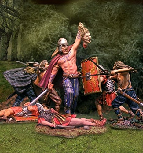 Roman Wars Toy Soldiers Victorious Barbarian Warrior, Collectors Showcase Toy Soldiers Painted Metal Figure 54mm-56mm CS00748 Britains Gunn King and Country Black Hawk Type