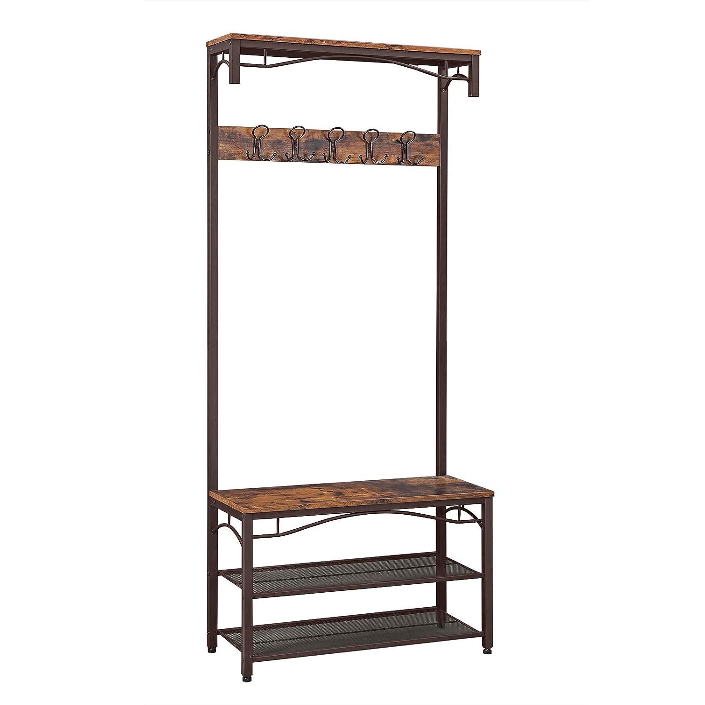 Amazon.com: VASAGLE Industrial Coat Rack, 3-in-1 Hall Tree ...