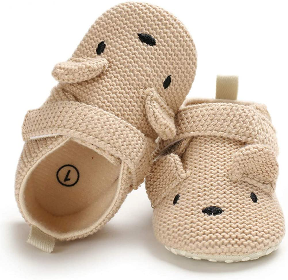 Sabe Infant Baby Warm Fleece Booties Cute Soft Sole Slippers Boys Girls Pram Shoes First Birthday Gift
